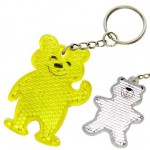 Promotional Reflective Teddy Bear Keyring