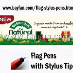 Flag Stylus Pens for Apps offline Roadshow