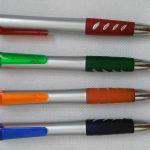 Silver Barrel Promotional Pens Rubber Grip