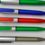 Frosted clip pens