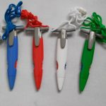 Two color lanyard horn pens